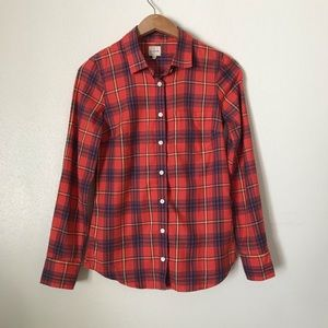 J. Crew Factory Plaid Perfect Shirt Flannel XXS